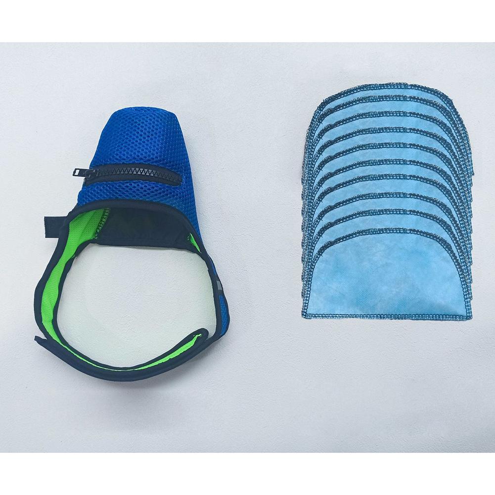 N95 Mask Anti-haze with Breathing Valve Dog Anti Virus Masks for Small Medium Large Pet 1 mask + 10 mask pads_S