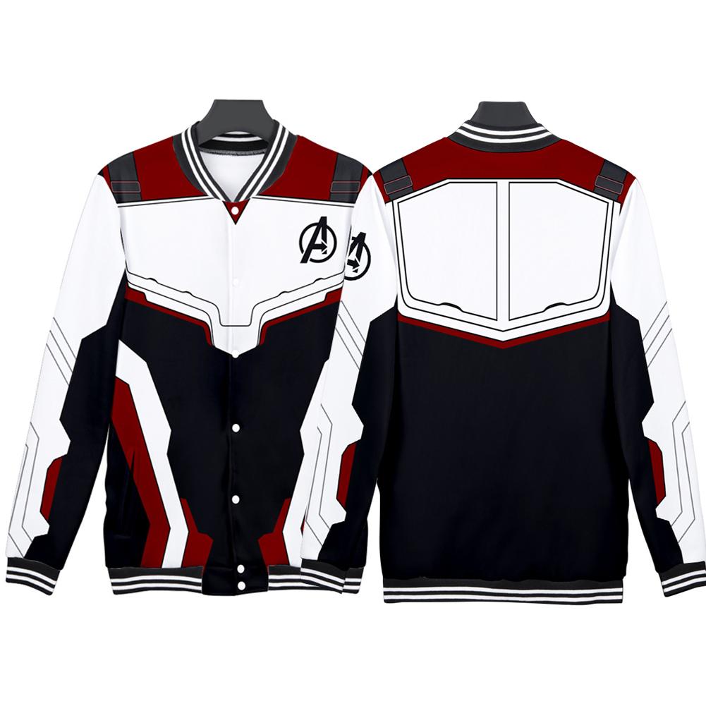 Avengers 4 Endgame Quantum Realm Battle Cosplay Suit Sweater Costume Tops Q-3835-YH04_L