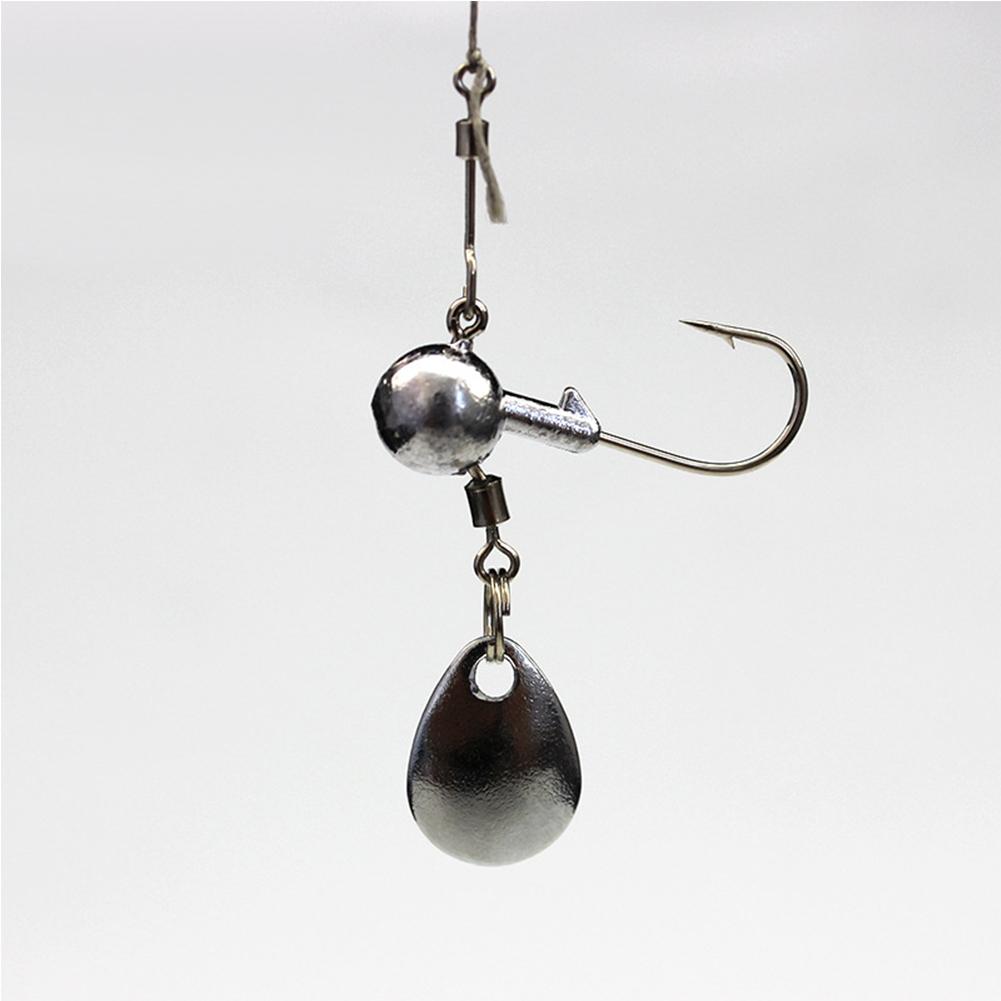 20PCS Fishhook Jig Hooks Lead Hook Heads Fishing Jigs Head  20 pieces 2g lead hook