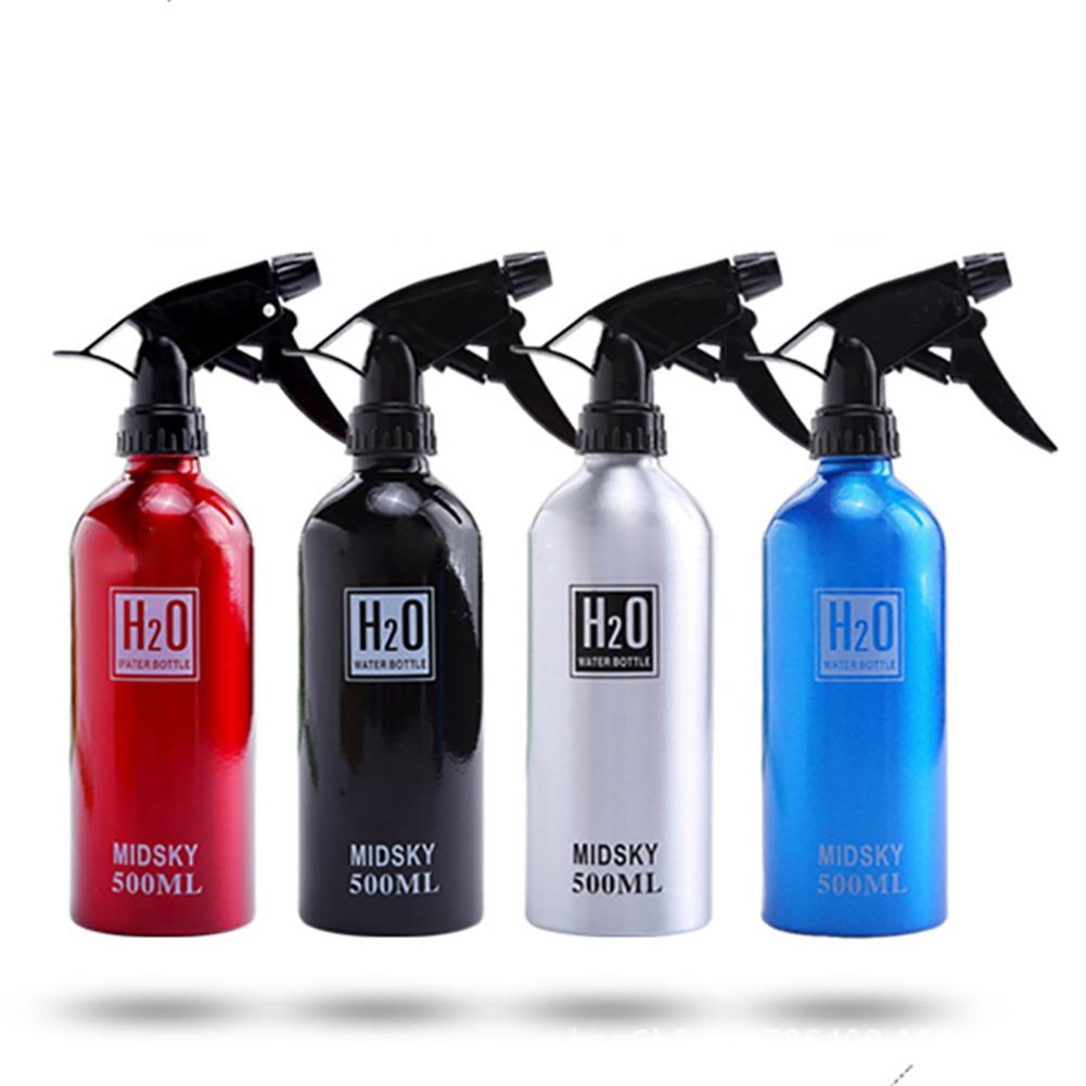 500ML Hairdressing Tool Hairdressing Sprayer Multi-color Aluminum Water Can Large Sprayer black