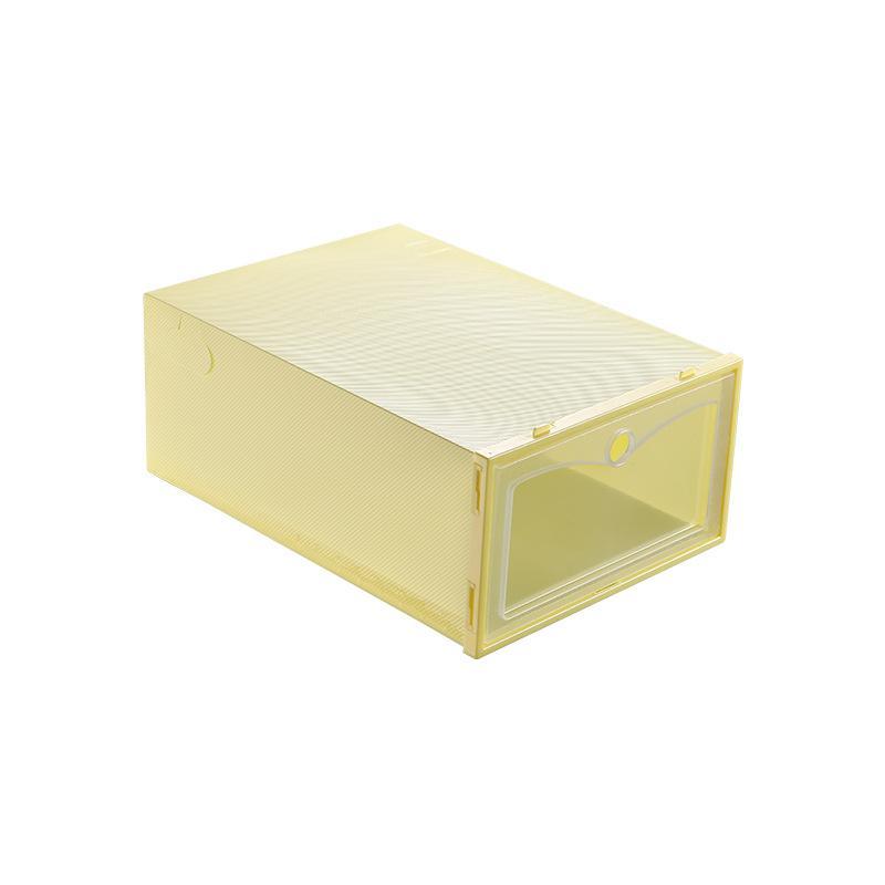 3Pcs Thicken Transparent Dustproof Moistureproof Storage Box for Women Men Shoes yellow_33*23*13cm