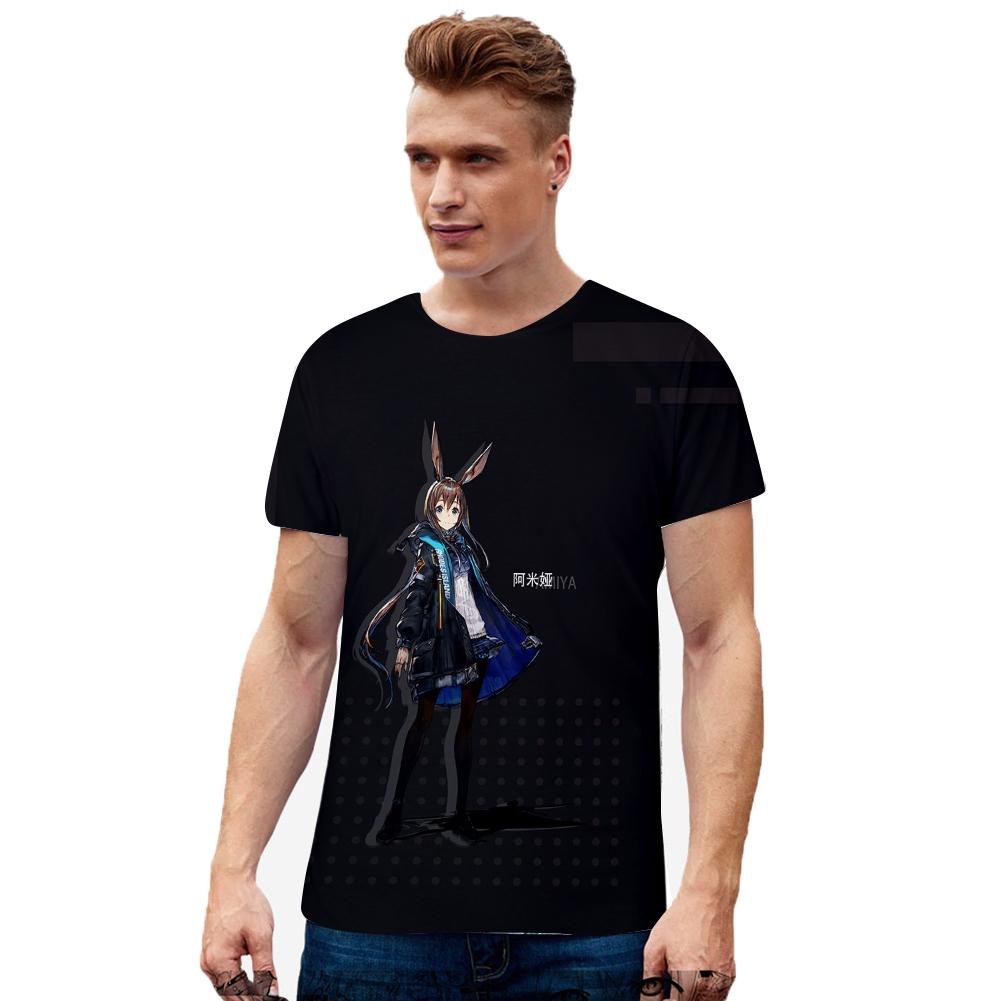 Fashion 3D Arknights Series Digital Printing Short Sleeve T Shirt N-01942-YH01_L