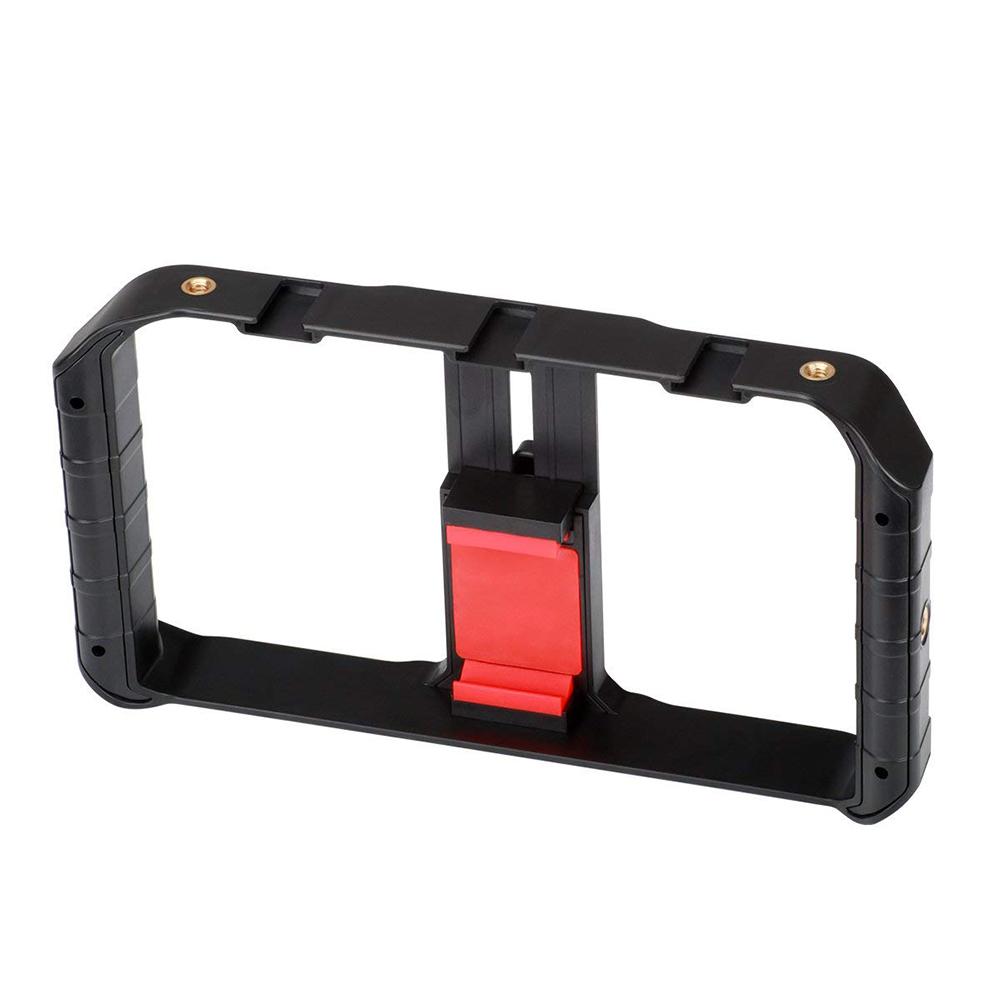 Ulanzi U-Rig Pro Smartphone Video Rig Phone Video Stabilizer Grip Tripod Mount for Videomaker Film-Maker Filmmaking Case for iPhone X 8 Plus Samsung  black