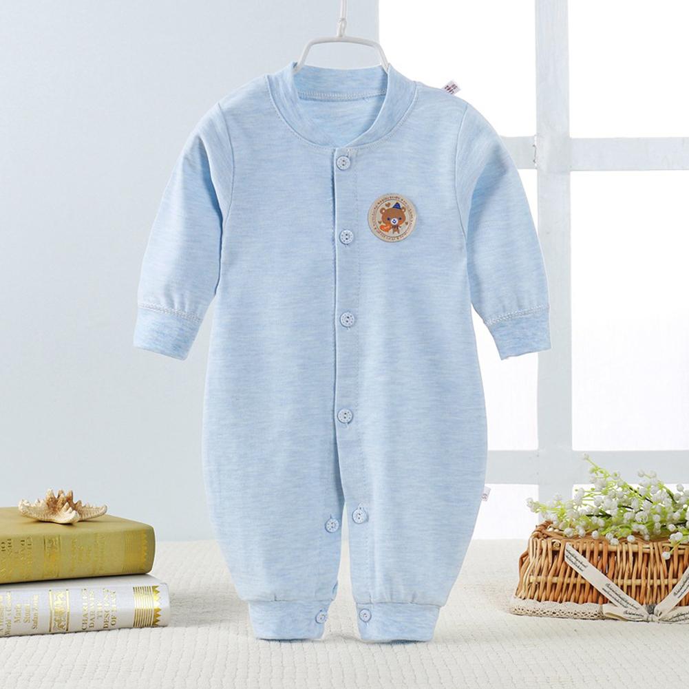 Infant Baby Boy Girl Jumpsuits Romper Toddler Babysuits Blue dual file_66cm