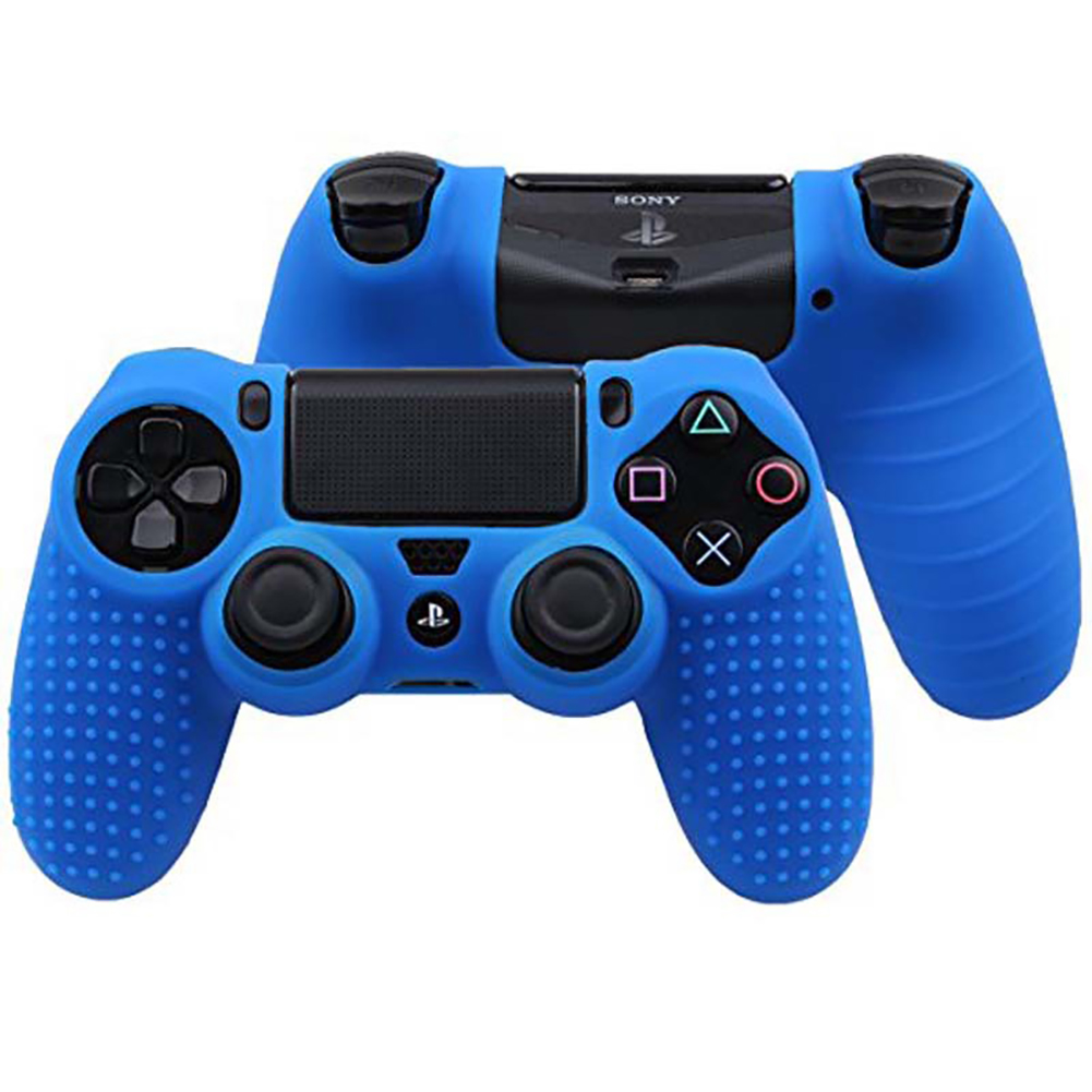 Soft Silicone Case Gel Protective Cover for PS4 pro/slim Controller  blue