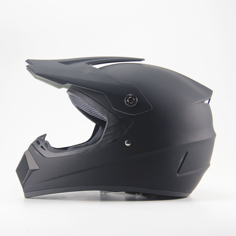 Full Protection Off Road Casco Motorcycle Moto Dirt Bike Motocross Racing Helmet Matte black_L