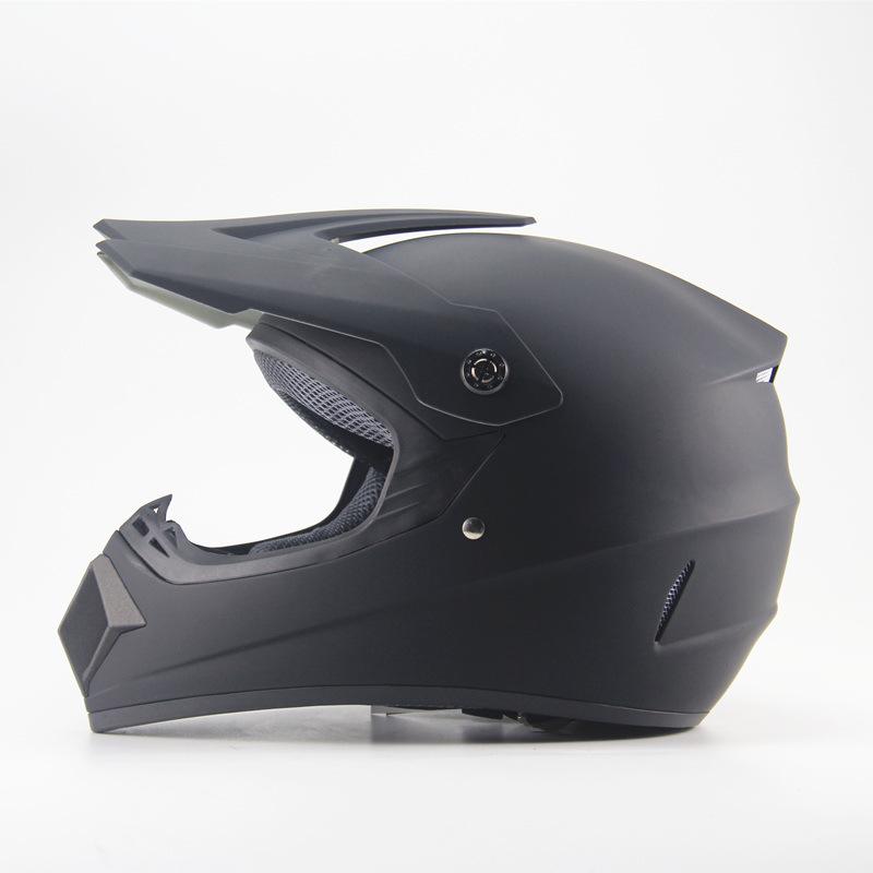 Full Protection Off Road Casco Motorcycle Moto Dirt Bike Motocross Racing Helmet Matte black_XL