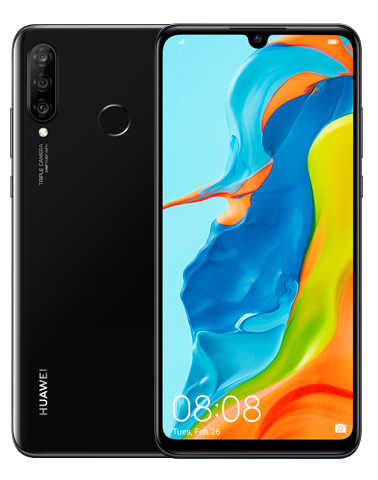 Huawei German Products Cannot Be Sold On Shelves Without Permission Mobile Phone HUAWEI P30 lite 4GB+128GB Smart Phone black_4GB + 128GB