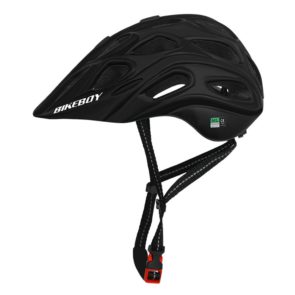 Professional Road Mountain Bike Helmet with Glasses Ultralight MTB All-terrain Sports Riding Cycling Helmet black_One size