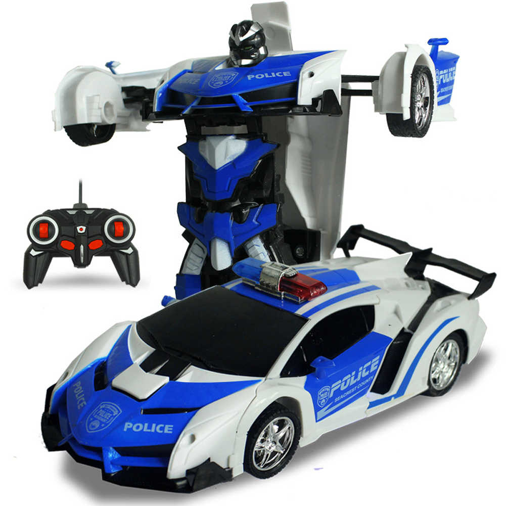 [Indonesia Direct] One-key Deformation Robot Toy Transformation Electric Car Model with Remote Controller