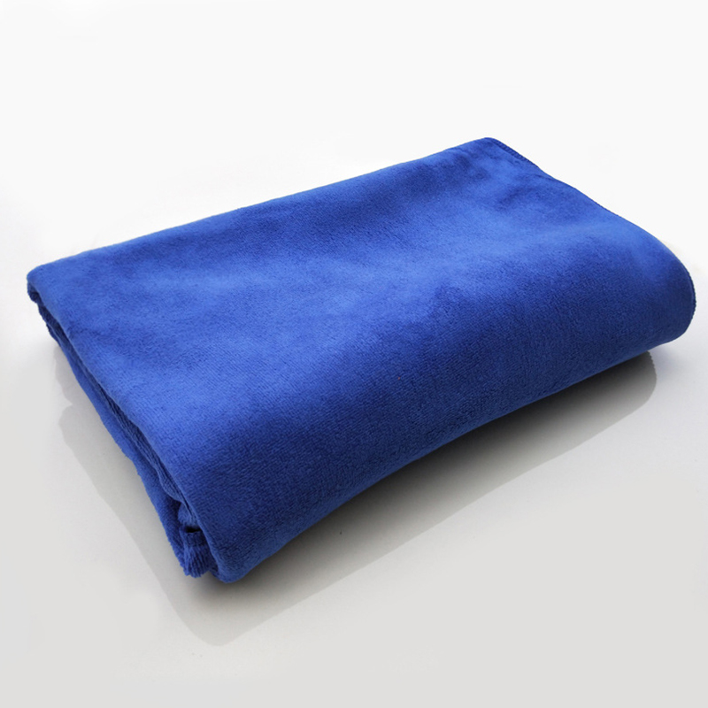 Microfiber Towel Car Wash Cloth Auto Cleaning Thick Strong Water Absorption For Car Home Automobile Blue 80 * 180CM