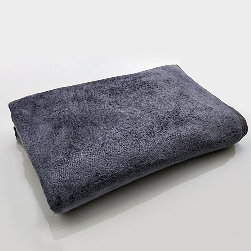 Microfiber Towel Car Wash Cloth Auto Cleaning Thick Strong Water Absorption For Car Home Automobile Gray 80 * 180CM