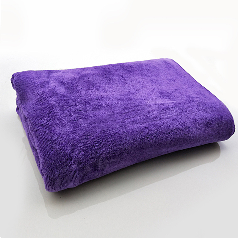 Microfiber Towel Car Wash Cloth Auto Cleaning Thick Strong Water Absorption For Car Home Automobile Purple 80 * 180CM
