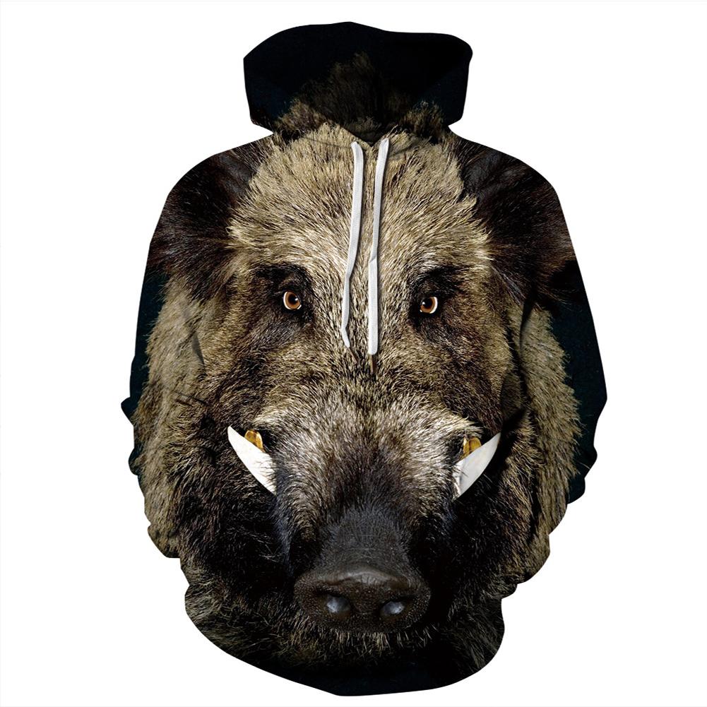 Men Women Cool 3D Animal Pattern Digital Printing Hooded Sweatshirts N-04225-YH03 A style_M