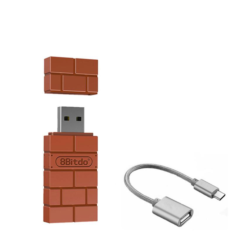 8BitDo USB Wireless Bluetooth Gamepad Receiver for Mac Windows Raspberry Pi Switch Controller As shown