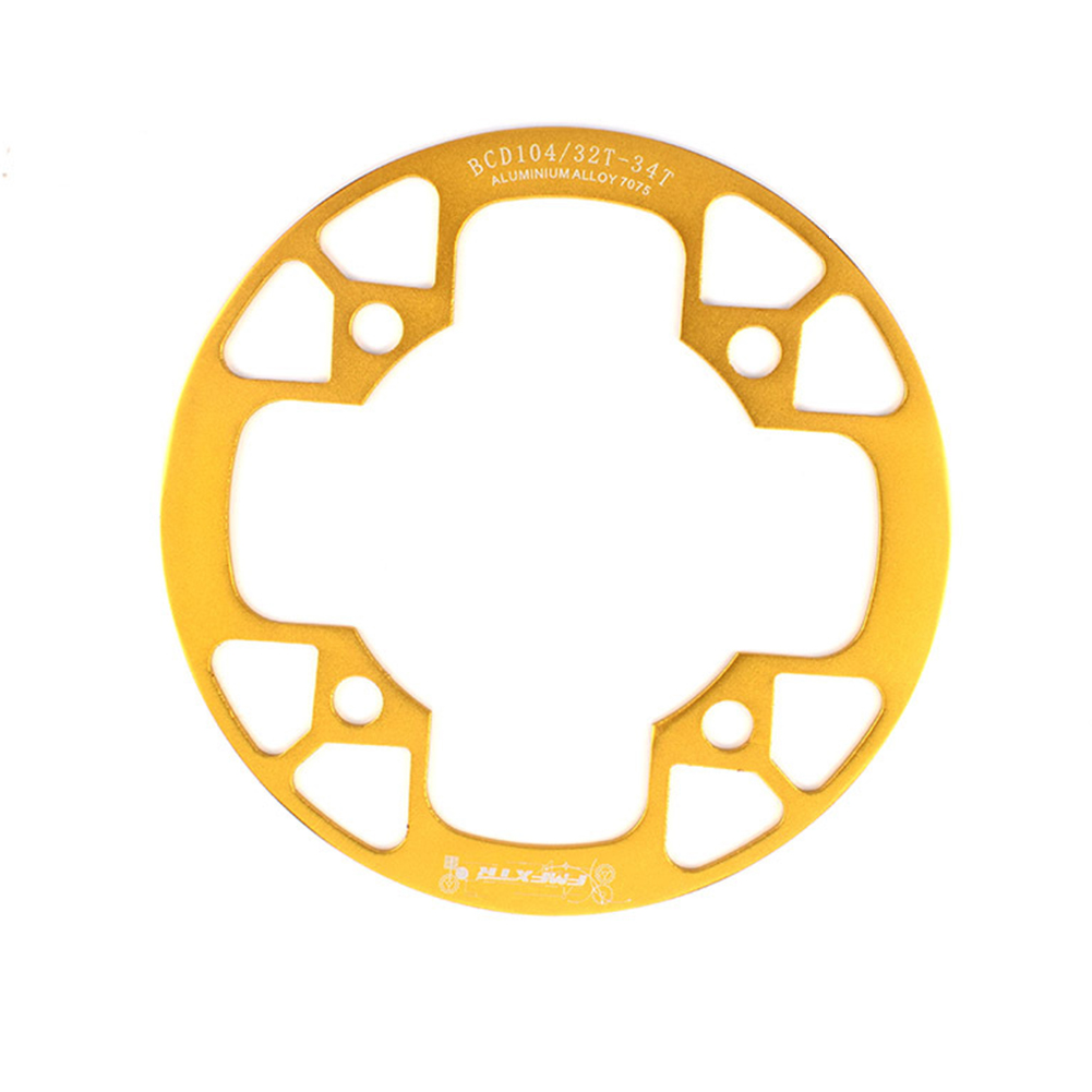 104bcd MTB Bicycle Chain Wheel Protection Cover Bicycle Protection Plate Guard Bike Crankset Full Protection Plate 32-34T gold
