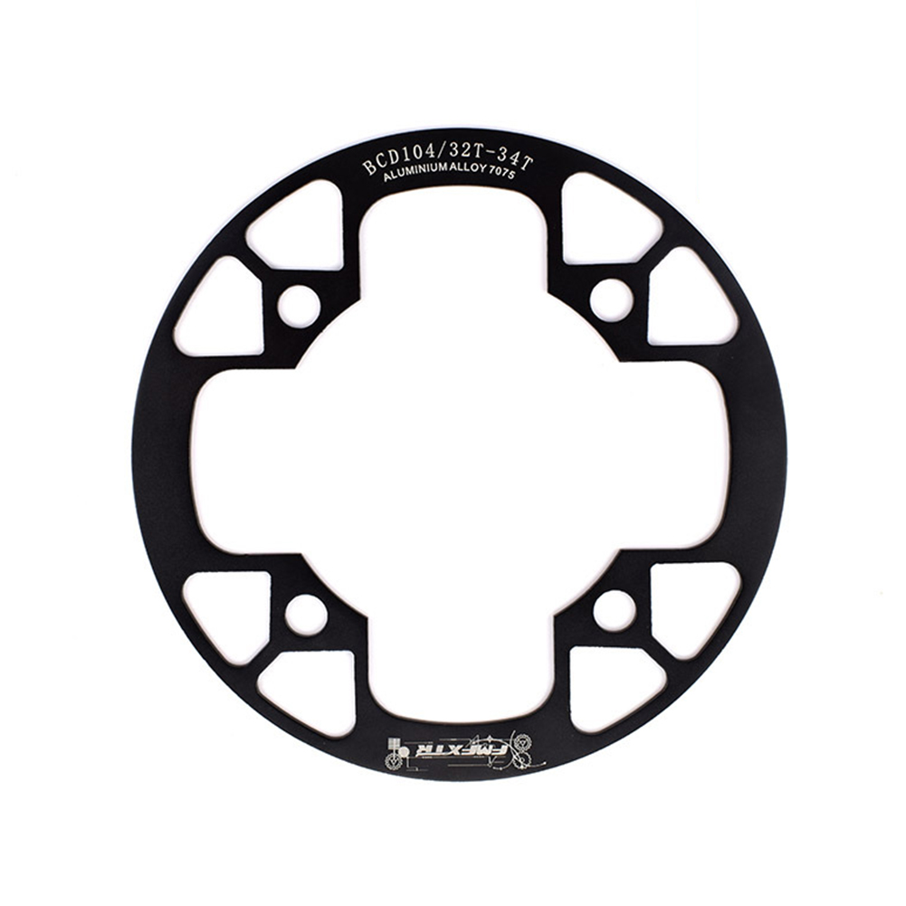 104bcd MTB Bicycle Chain Wheel Protection Cover Bicycle Protection Plate Guard Bike Crankset Full Protection Plate 32-34T black