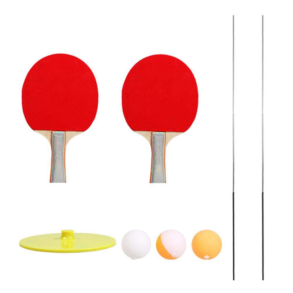 Decompression Eye Training Ball Elastic Soft Shaft Table Tennis Trainer Elastic Rod 2* racquet 3* ball 2* carbon rod 1* base