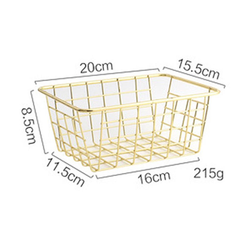 1Pc Nordic Wrought Iron Table Snack Fruit Metal Storage Basket Trumpet gold