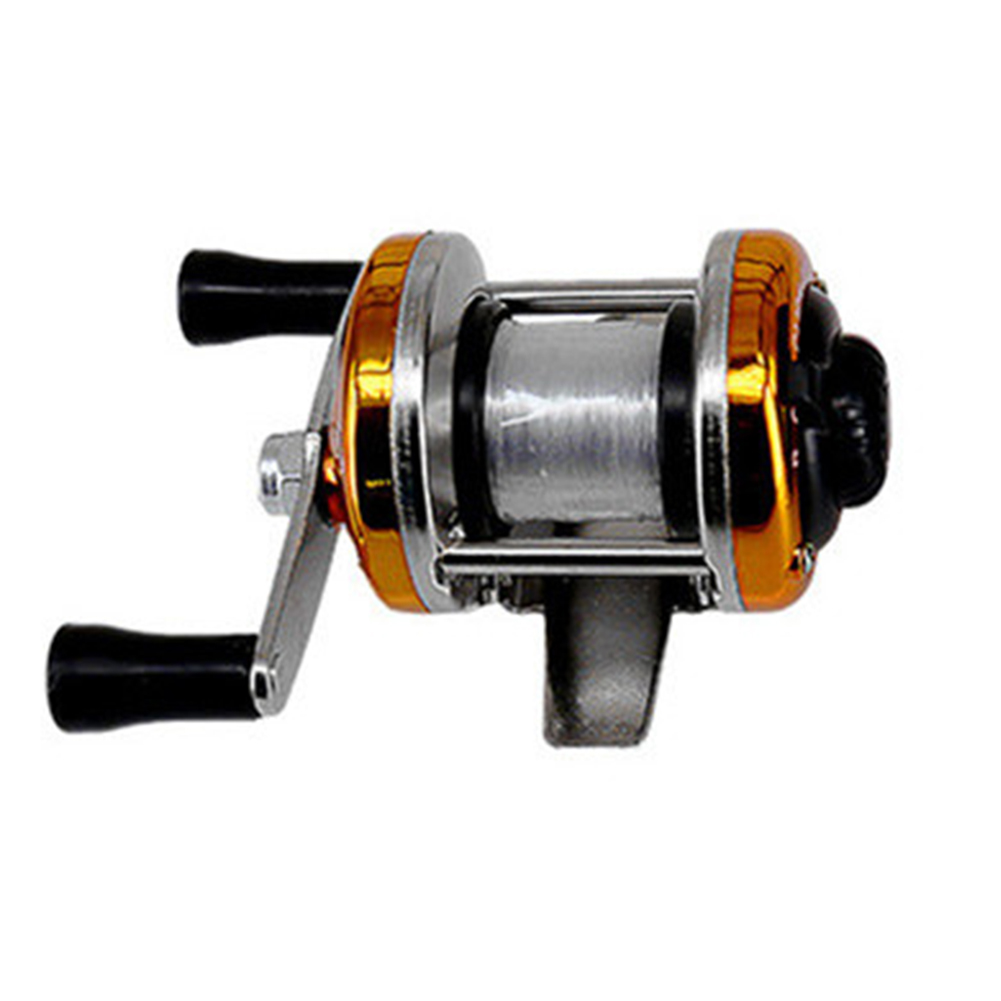 Winter Ice Fishing Reel Baitcasting Double Rocker Bait Casting Fishing Reel Gold