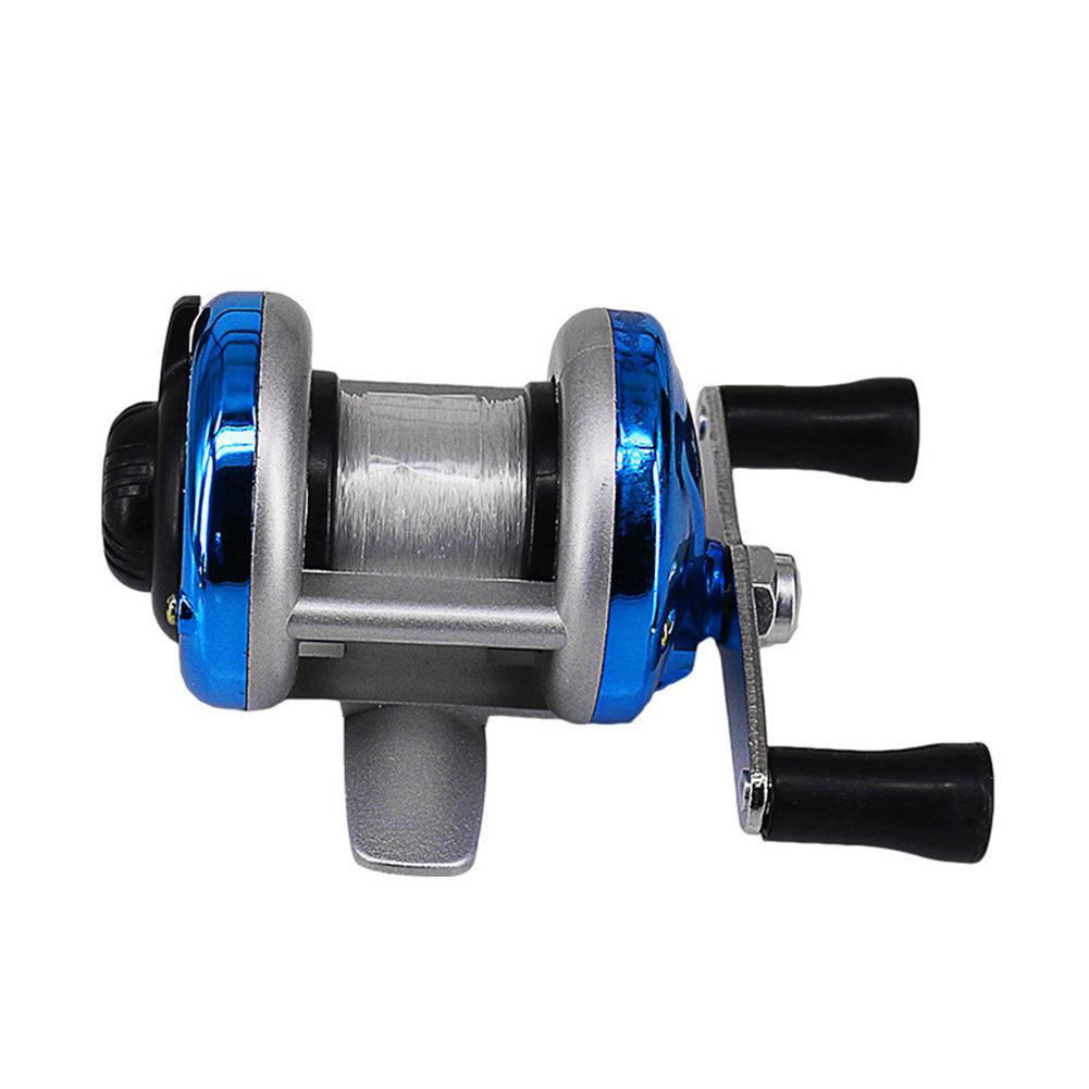 Winter Ice Fishing Reel Baitcasting Double Rocker Bait Casting Fishing Reel Blue