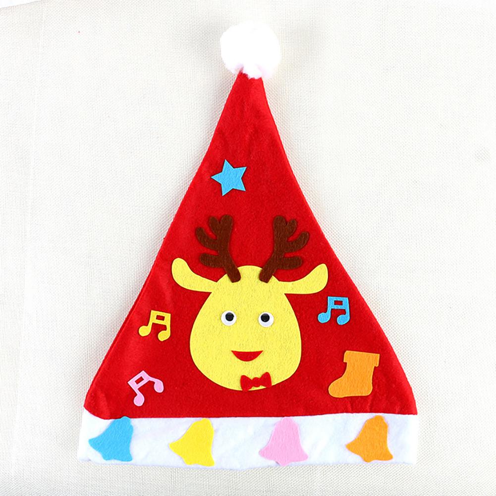 Kids DIY Christmas Hat Children's Handmade Material Accessories Set Toy Christmas Gift Christmas hat - elk