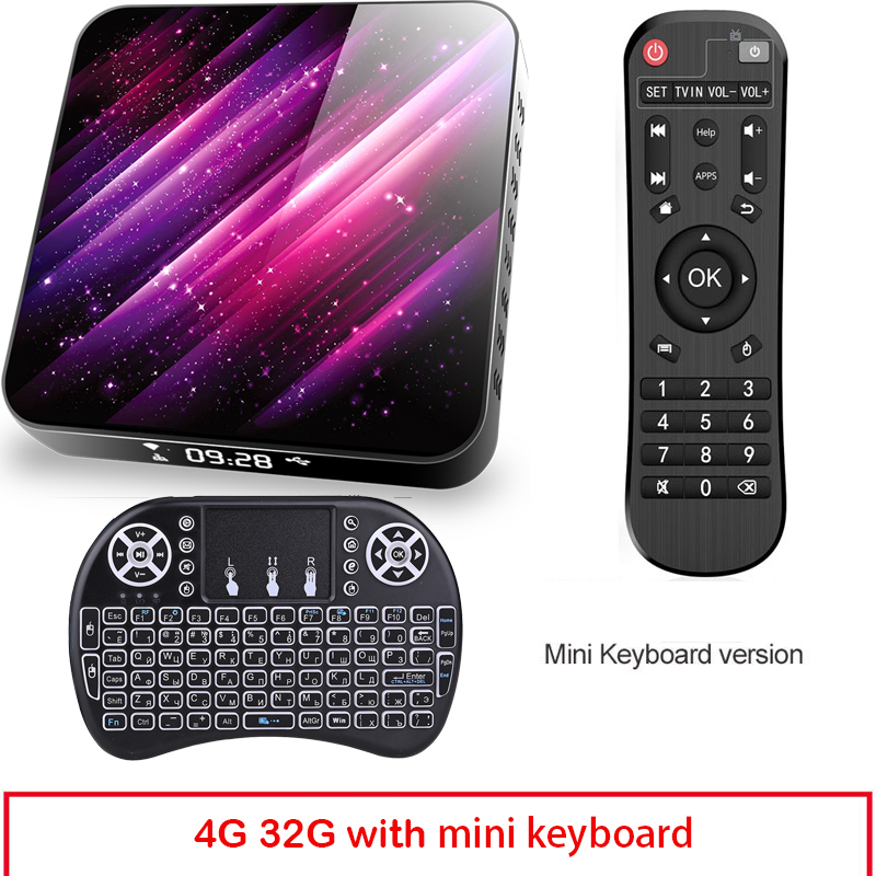 Tp03 Tv  Box H616 Android 10 4+32g D Video 2.4g 5ghz Wifi Bluetooth Smart Tv Box 4+32G_Au plug+I8 Keyboard