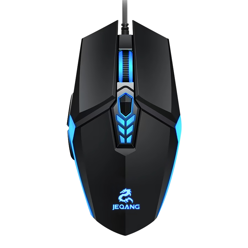 Jm-518 Wired Gaming Mouse Rgb Colorful Luminous Gaming Desktop Computer Competitive 6g Competitive Mouse Black