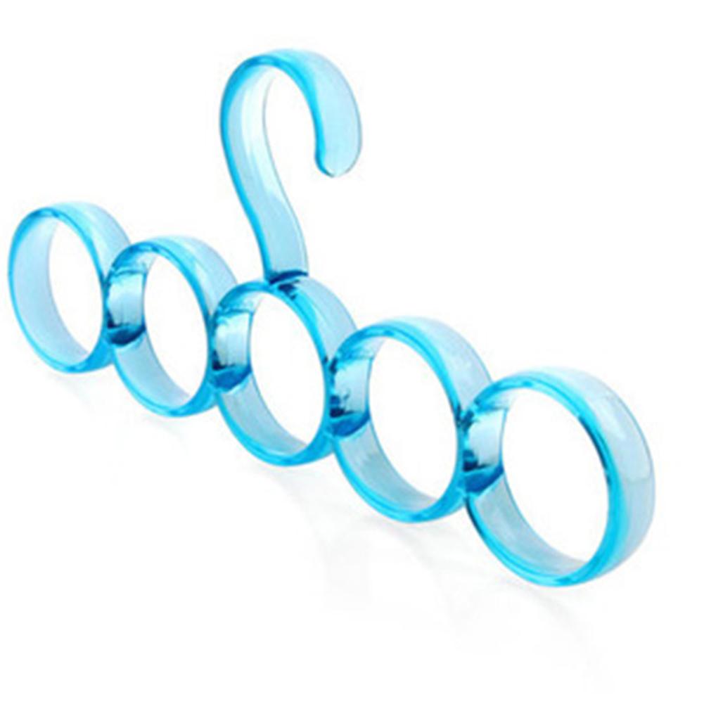 2Pcs Multifunctional 5-Ring Hanging Racks for Scarf Silk Scarves Belt ie