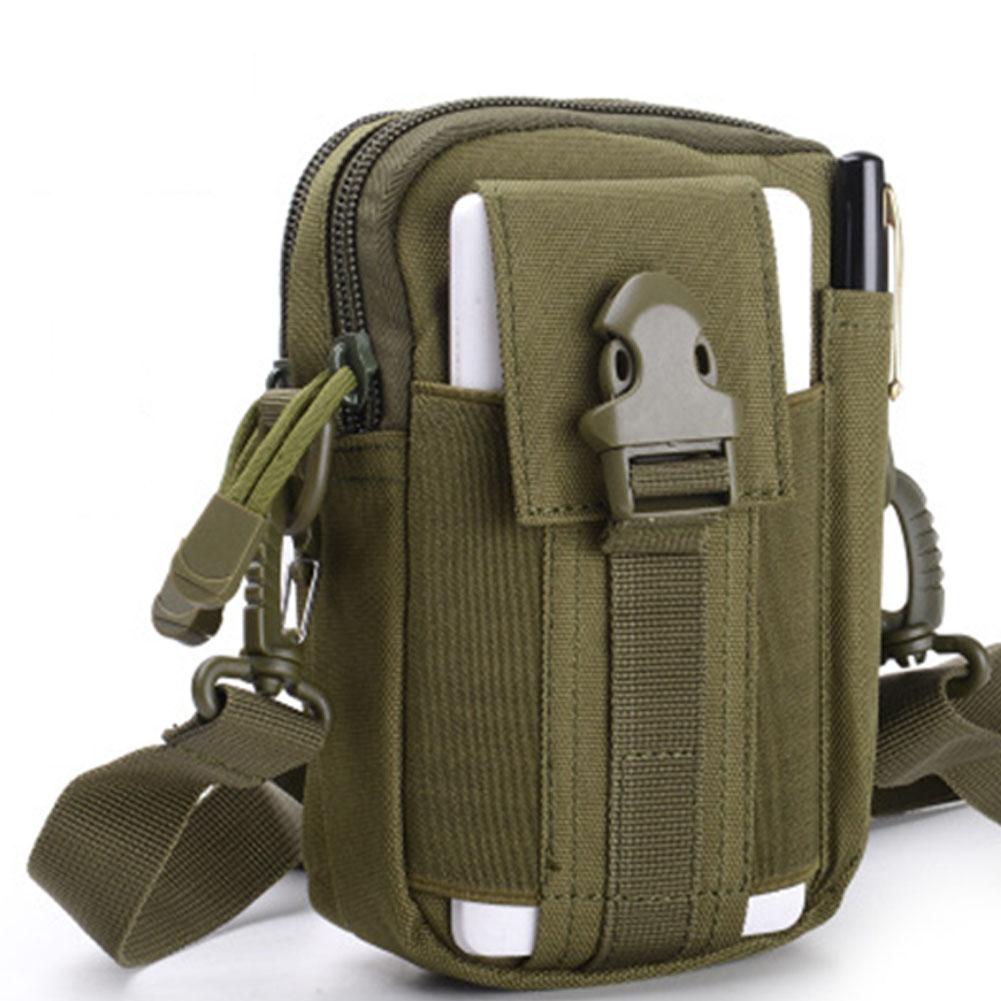 Unisex Sports Multi-functional Outdoor Running Waist Bag Mini Shoulder Bag ArmyGreen_17.5*12*8 (CM)