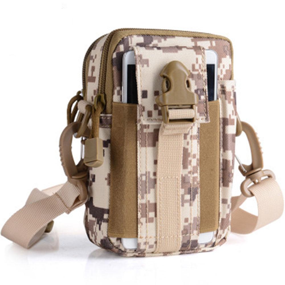 Unisex Sports Multi-functional Outdoor Running Waist Bag Mini Shoulder Bag Desert digital_17.5*12*8 (CM)