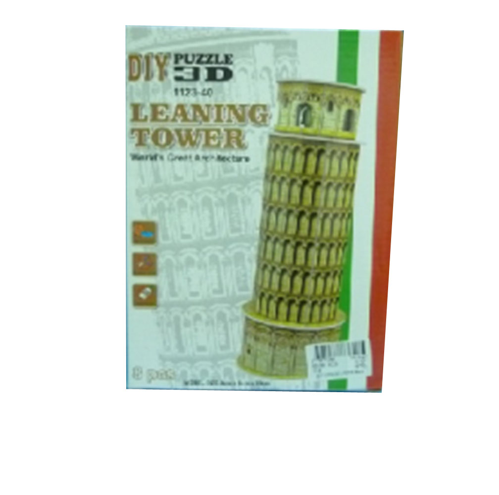 8-Piece Leaning Tower Mini 3D Puzzle