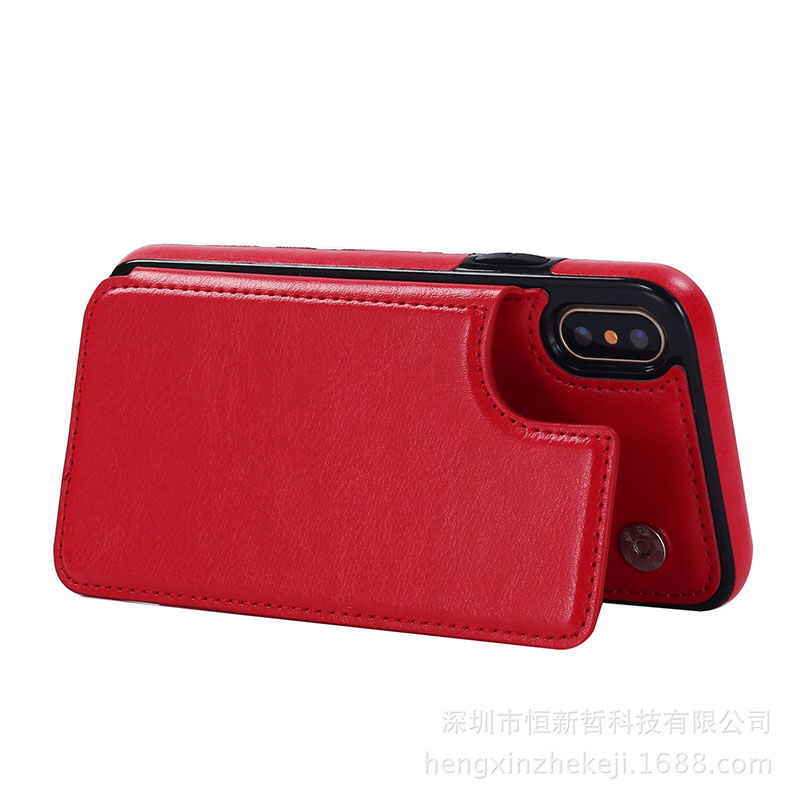 Leather Wallet Case Card Cover