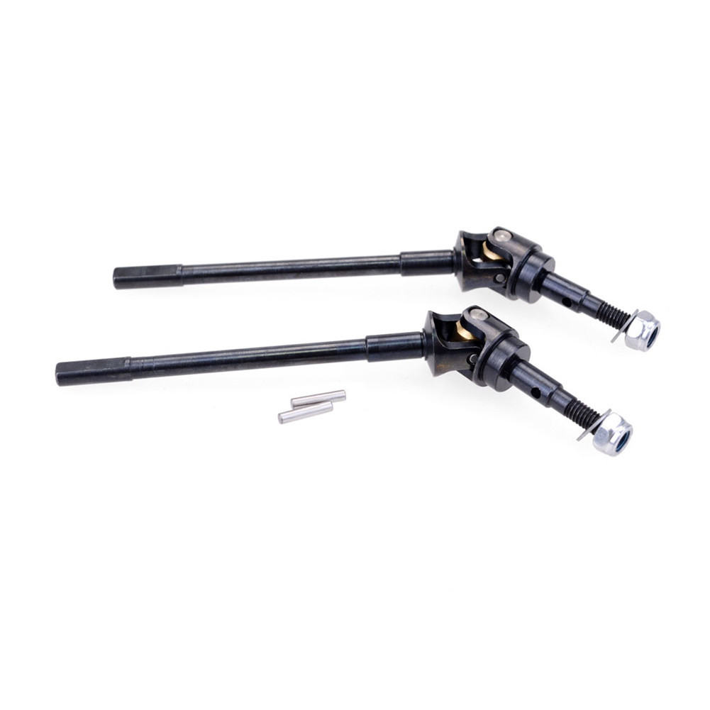Hard Steel Front Axle/Rear Axle CVD AR44 Universal Drive Shaft for AXIAL SCX10 II 90046 47 RC Car Parts Toys for Children 2PCS_Pre-CVD