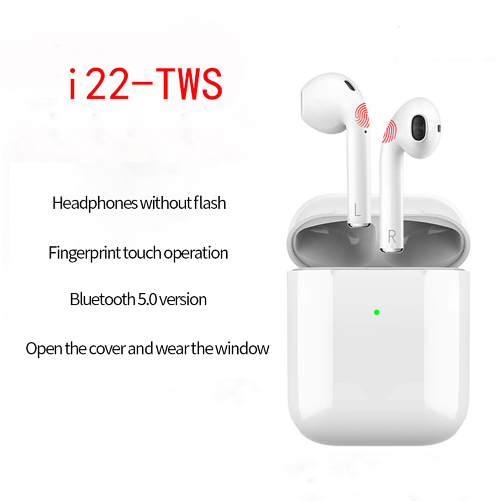 i22 i23 TWS Wireless Earphone Bluetooth 5.0 Headset 1:1 with Charging Case Earbuds for Mobile Phone
