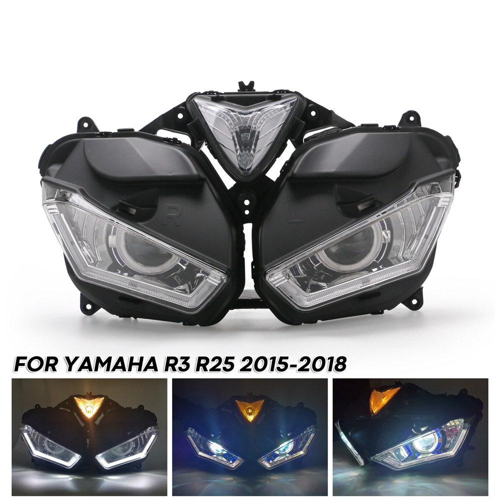 Motorcycle accessories LED headlight assembly near and far light light for Yamaha R3 R25, 2015-2018 V2 hf056