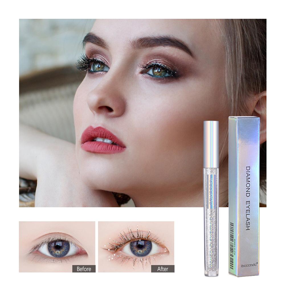 3ml Sparkling Mascara Quick-drying Film Forming Mascara Radiant Tear Effect Makeup Eyelash Mascara 3ml