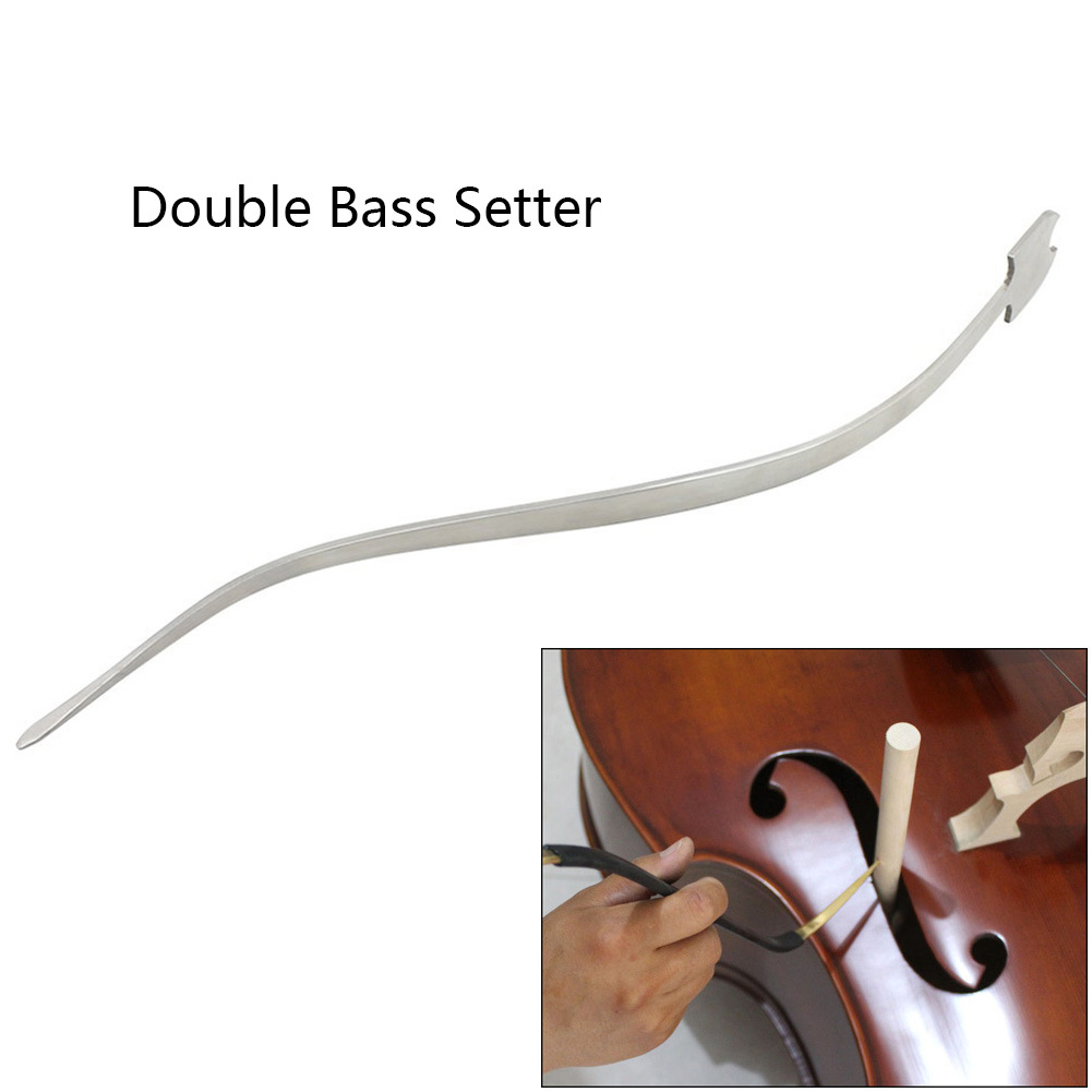 Cello / Double Bass Sound Post Setter Upright Stainless Steel Column Hook Tool Strings Instrument Cello Part Accessories Double Bass Setter