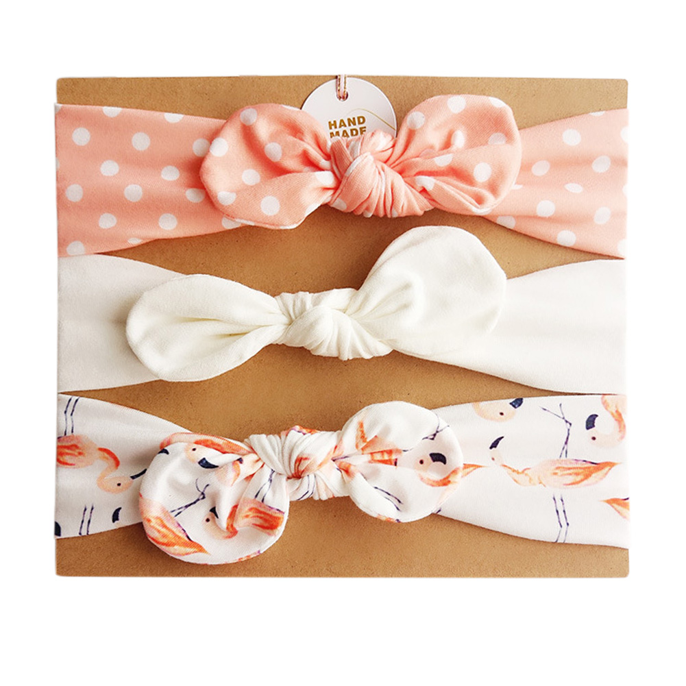 Stylish Kids Bowknot Hairband Cute Headwear Ornament Birthday Festival Gift 3PCS/Set
