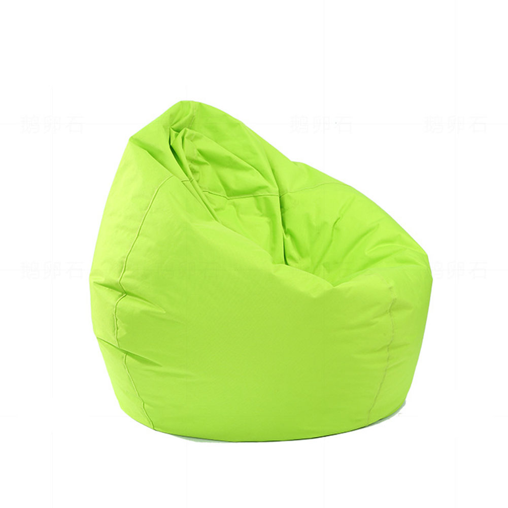 Waterproof Stuffed Animal Storage/Toy Bean Bag Solid Color Oxford Chair Cover Large Beanbag(filling is not included) green_60X65CM