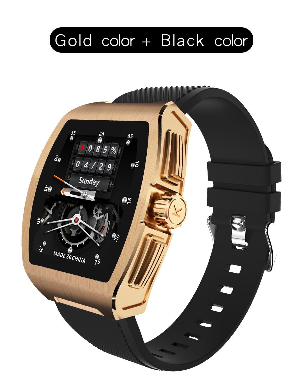 C1 Smart Bracelet Temperature Monitor Bluetooth Heart Rate Blood Pressure Smart Watche Golden