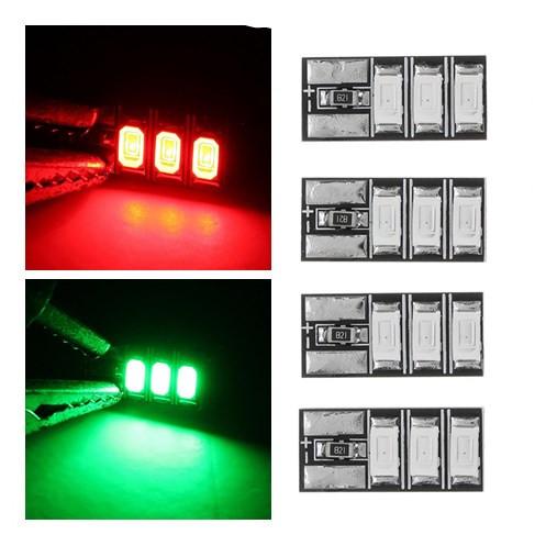 4 PCS 4-6S Mini LED Light Board Red Green for RC Drone FPV Racing Frame Kit - Green