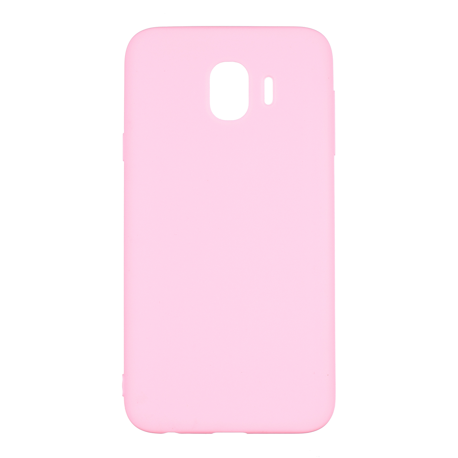 for Samsung J4 Euro Edition Lovely Candy Color Matte TPU Anti-scratch Non-slip Protective Cover Back Case dark pink
