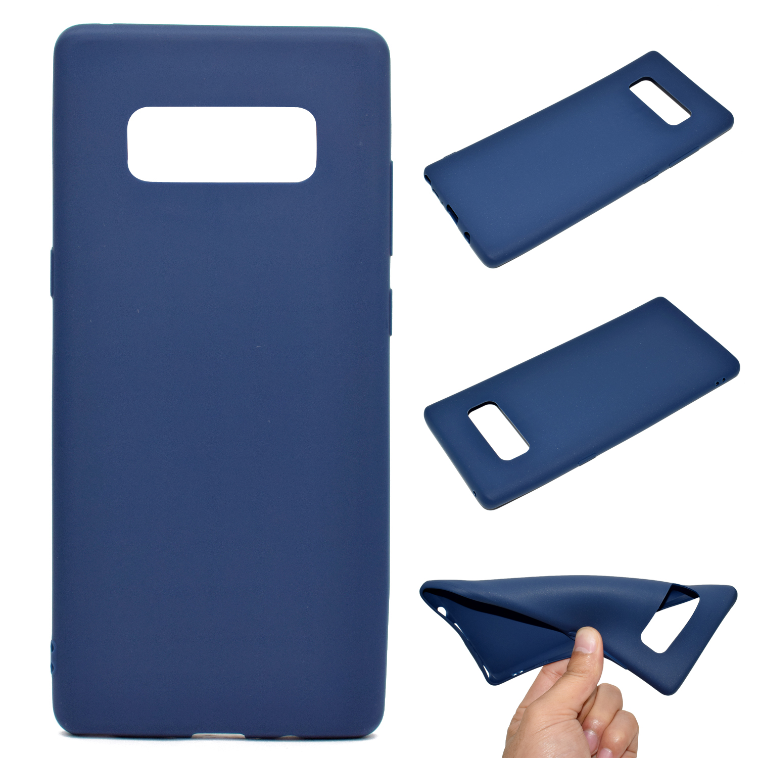 for Samsung NOTE 8 Cute Candy Color Matte TPU Anti-scratch Non-slip Protective Cover Back Case Navy