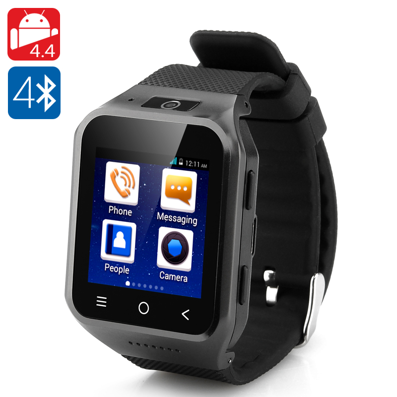 ZGPAX S8 Android 4.4 Watch Phone (Black)