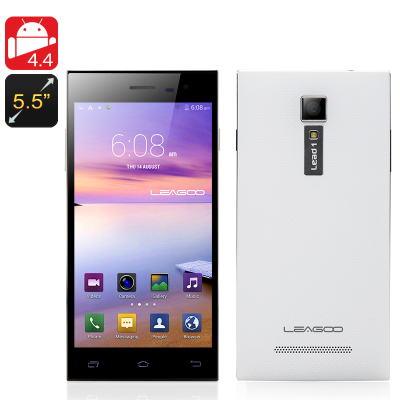 LEAGOO Lead 1 Android 4.4 Phone (White)