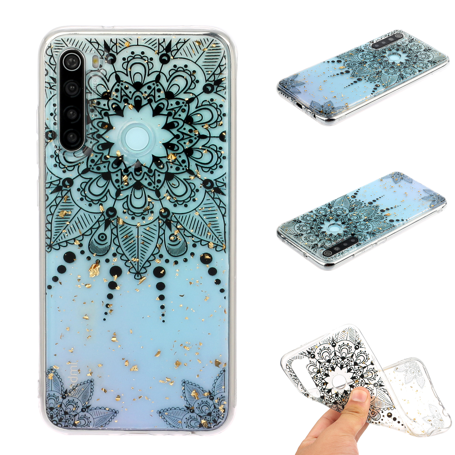 For Redmi Note 8 / Redmi Note 8 Pro Cellphone Cover Beautiful Painted Pattern Comfortable Wear TPU Phone Shell 5