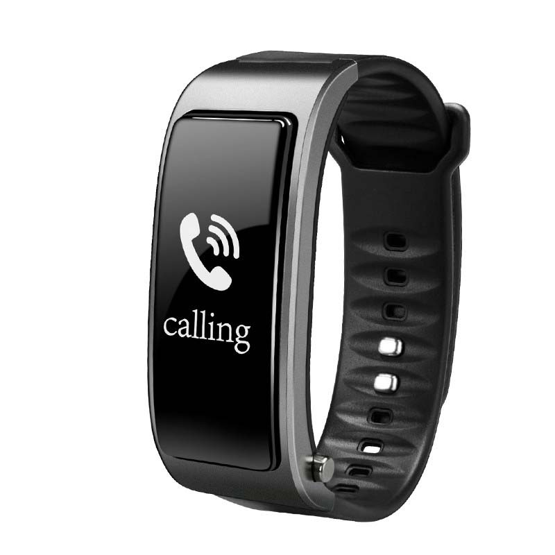 Bluetooth Y3 Color Headset Talk Smart Band Bracelet Heart Rate Monitor Sports Smart Watch Passometer Fitness Tracker Wristband Silver grey