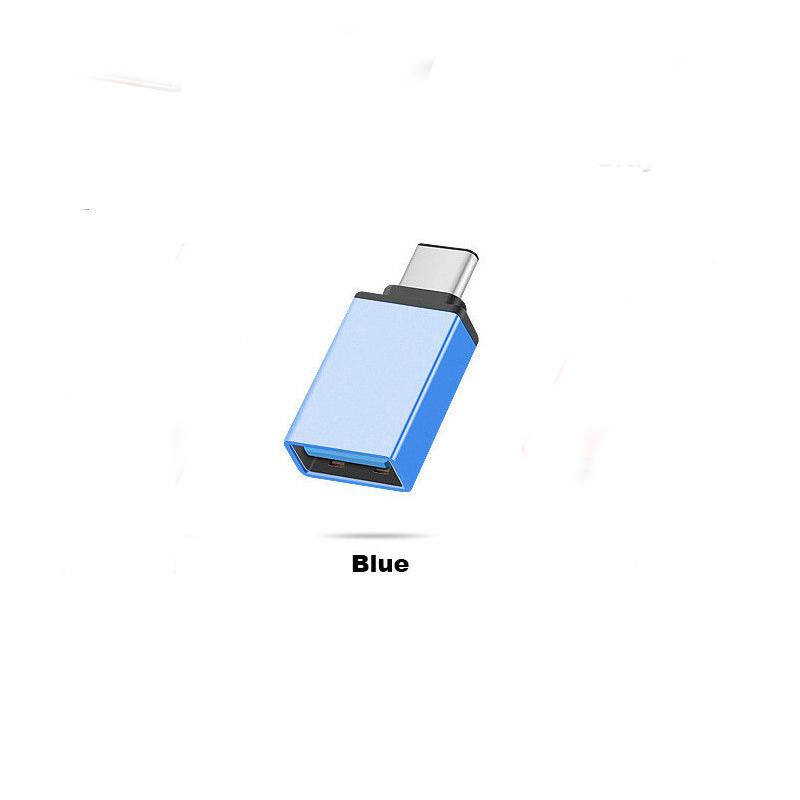 USB-C Type C 3.1 Male to USB 3.0 Type A Female Adapter Sync Data Hub OTG  blue