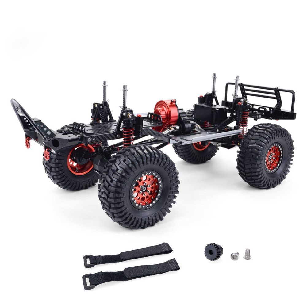 Front Rear Portal Axle CNC Aluminum Metal and Carbon Frame for RC Car 1/10 AXIAL SCX10  Wrangler Chassis 313mm Wheelbase Vehicle Crawler Cars Parts Frame